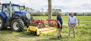 Andrew Dalzell, Dalzell Contracting (left) and Rennie Barnes, Norwood Farm Machinery Centre, Christchurch